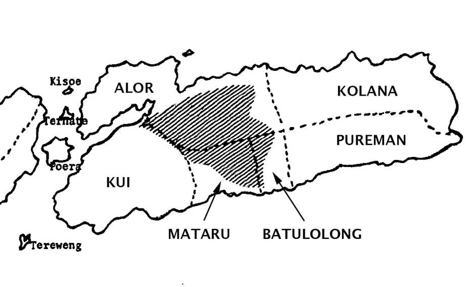 Description: The location of the 1918 uprisings on Alor