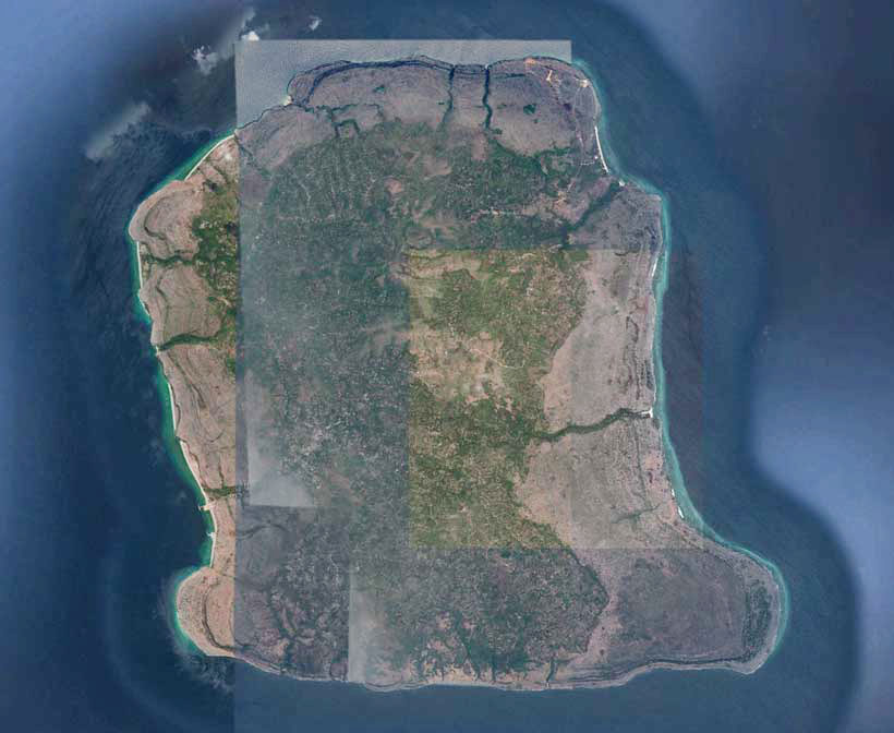 Description: Aerial view of Kisar Island