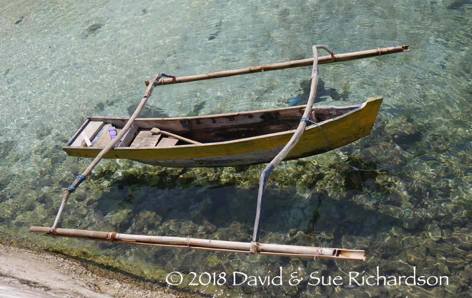 Description: An outrigger at Buaya