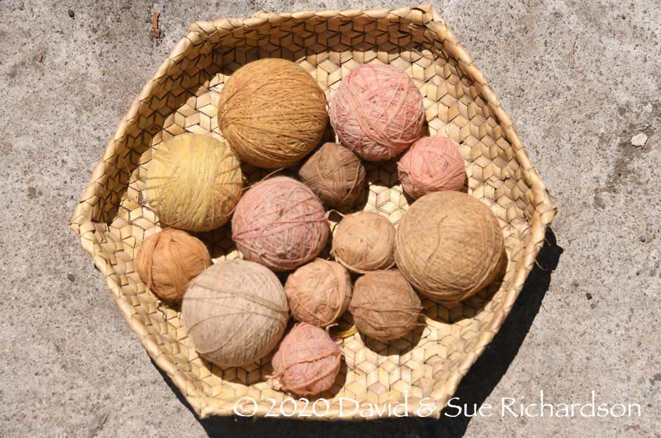 Description: Naturally dyed yarns, Bungamuda
